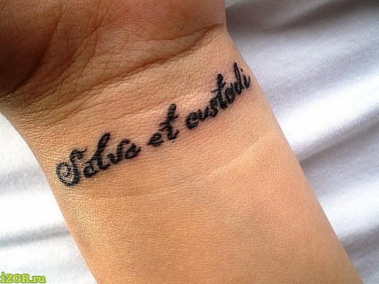 Женские татуировки — надписи